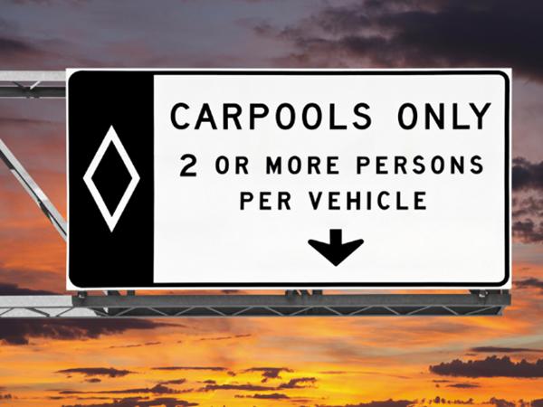 Violaciones del carril de Carpool en Las Vegas, Nevada