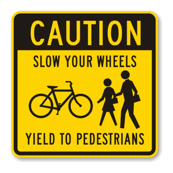 No dar paso a los peatones en una multa de tráfico de cruce de peatones